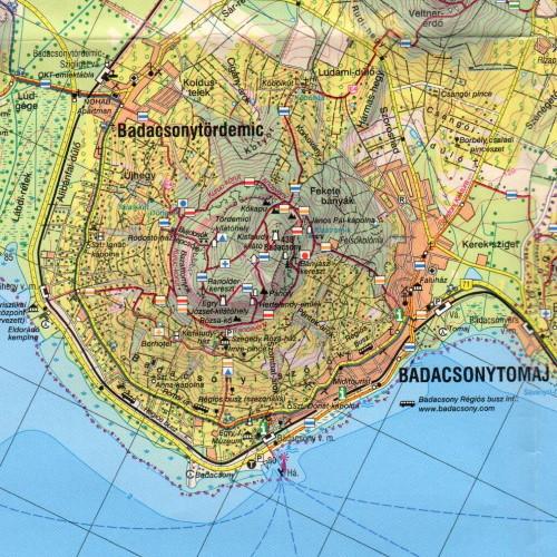 Badacsony térkép